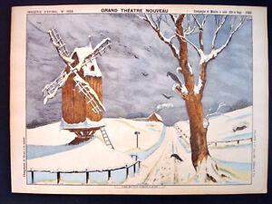 Pellerin Imagerie D'Epinal-Grand Theatre Nouveau No 1658 Snow Windmill Inv1770