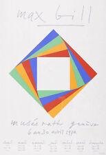 "BILL MAX ""musée rath"" 1972 Original handsignierte Farbserigrafie! TOP"