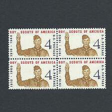 Norman Rockwell's Boy Scouts of America - Mint Set of 4 Stamps 57 Years Old!