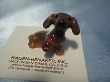 Hagen Renaker Dog Dachshund Pup Figurine Miniature 03204 Porcelain Ceramic New