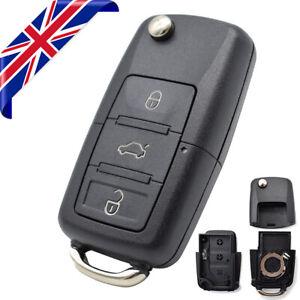 Car Remote Key Shell Cover Fob For VW Golf Caddy Touran Polo T5 Tiguan 3 Button