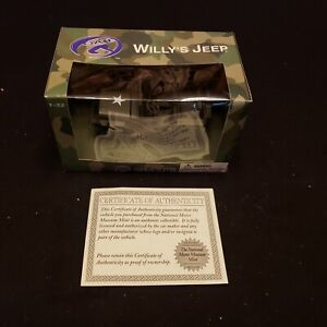 "Collectible Gate ""Willy's Jeep"" Toy Army Car In Box 1:32, With Certificate"
