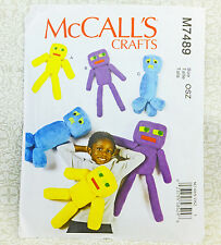 McCall's M7489 Crafts Robots 3 Designs Stuffed Cloth Toy Doll Sewing Pattern NEW