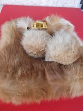 VINTAGE SMALL HANDMADE RABBIT FUR WITH TOSELL BAG/PURSE