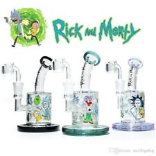 Rick & Morty water bongs female 14.5 mm dab rigs with quartz banger