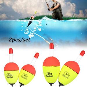 2Pcs Luminous Fishing Night Float Light Stick Bobber Rock Fishing Striking Fl`AU