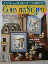 April 1990 Country Stitch Cross Back Issue Magazine Violet Sampler Bunny Chicken