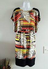 Womens size 6 Sangria resort palm dress empire waist nwt