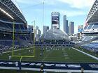 2 Seattle Seahawks vs New Orleans Saints Tickets Lower L  Aisle MNF No Reserve !