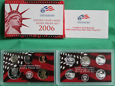 2006 S United States Mint ANNUAL 10 Coin SILVER Proof Set with Box and COA