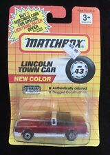 Matchbox MB 43 Lincoln Town Car Red Unopened