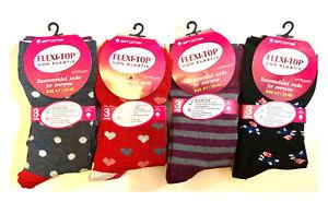 12 Pair Womens Loose Top Socks Wide Top Diabetic socks size 4-7 Ladies Sock LOT