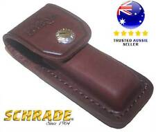 SCHRADE YULS2 Leather Sheath Brown Large
