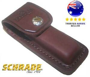 Genuine Schrade Old Timer LS2 Large Brown Leather Belt Sheath Pouch