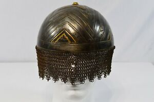Persian Metal Military Helmet with Ring Mail
