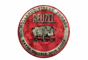 Reuzel Pomade Red Water Soluble High Sheen 4oz