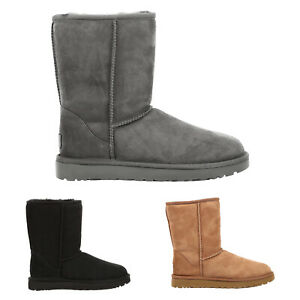 Ugg Australia Womens Boots Classic Short II Casual Pull-On Ankle Suede
