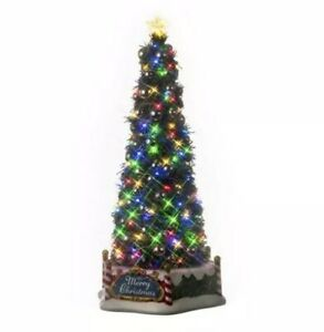 Lemax MAJESTIC CHRISTMAS TREE Animated Sights & Sounds Holiday Village-Train