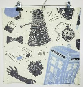 "Dr. Who Pillowcase Pillow Cover 17"" X 17"" Police Call Box Tardis Dalek"