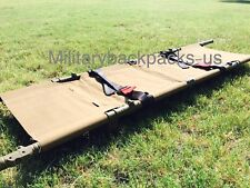 NEW USMC Coyote Brown Folding Evacuation Litter Stretcher Portable Medic First
