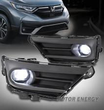 For 20-21 Honda CR-V Front Bumper LED Fog Lights Lamps Chrome w/Bezel Left+Right