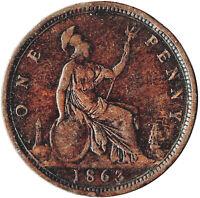 1863 ONE PENNY OF QUEEN VICTORIA / VERY HIGH GRADE    #JAN14