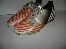 ADIDAS PREDATOR FUTBALL SOCCER CLEATS YOUTH BOYS SHOES size 3 M WHITE ORANGE