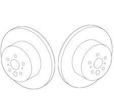 Genuine Pair Set of 2 Rear Disc Brake Rotors For Toyota Avalon Camry Lexus ES350