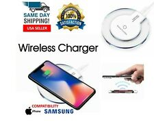 QI Wireless Charger Pad Charging iPhone 11 Pro Max XR Galaxy Note 9 10 S10 White