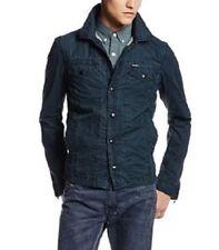 $258 DIESEL J-Xochill Cotton Jacket black front snaps side zipper sz L-XL NEW
