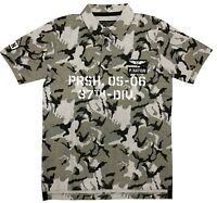 "Parish Nation Black ""Camo"" Short Sleeve Polo Shirt"