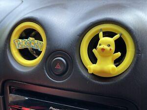Pikachu Pokemon Mazda MX5 Miata Eunos air vent covers X2 Fit MK1 MK2 Models