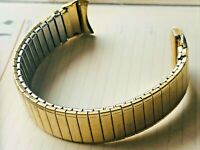 Speidel Stainless Gold Tone Metal Mens Watch Band vintage