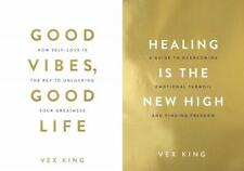 Healing Is the New High & Good Vibes, Good Life 2 Book Set by Vex King