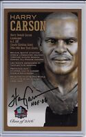 Harry Carson Pro Football Hall of Fame Autographed Bronze Bust Card 100/150