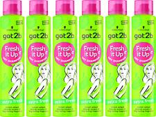 6x Schwarzkopf Got2b Fresh It Up EXTRA FRESH Dry Shampoo 200ml