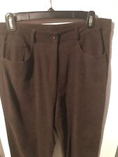 New Frontier Faux Suede Chocolate Brown Pants Size 12