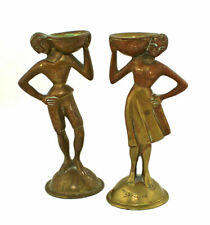 A.G. BUNGE Art Deco Bronze / Brass Figures Germany 1930
