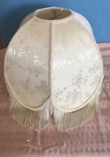 "Vintage Lampshade Victorian Fringe Lamp Shade Spider Fitting 16"" long"