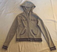 "MENS L GUESS JEANS GREY FULL ZIP HOODIE SWEATSHIRT CHEST 38"" 97cm"