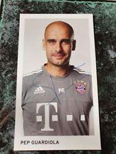 Pep Guardiola *FC Bayern München* handsignierte Autogrammkarte