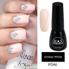 MAX 7ml Nail Art Color UV LED Lamp Soak Off Gel Polish #046-Amber White