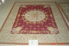 8'x10'Beautiful Rose Floral Needlepoint Rug French Classic Swirls Hand Crafted