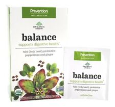 Organic India Peppermint Ginger Tea BALANCE 18 Bags TULSI (HOLY BASIL) PROBIOTIC