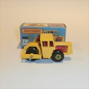 Matchbox Superfast 1979 72f Bomag Road Roller Mint with K style Box