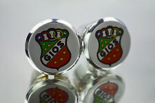 Silver Gios Handlebar End Plugs Bar Caps vintage guidon bouchons calotte tappo