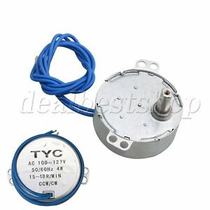 49mm Dia 15-18RPM AC 110V Turntable Synchronous Motor with Flat Shank