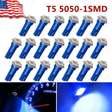 20X Pure Blue T5 5050 SMD Gauge Led Dash Instrument Panel Light Bulb 74 73