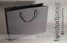 Large Grey Handled Paper Party & Gift Carrier Bag / Luxury Bags With Handles
