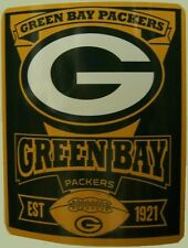 "Blanket Fleece Throw NFL Green Bay Packers NEW 50""x60"" with protective sleeve"